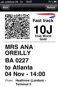 british airways boarding pass